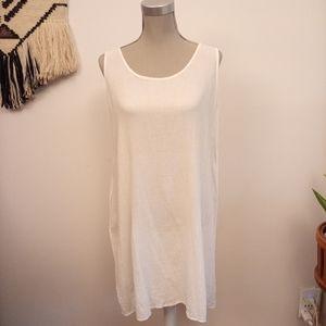 Breezy white beach dress size M